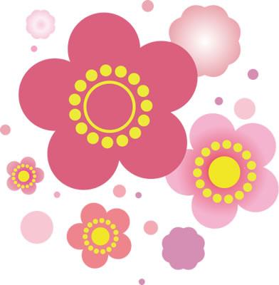 年賀状のイラストには桜花